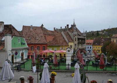 -Piata Hermann Oberth, Sighisoara - Diario di viaggio in Transilvania - Romania.