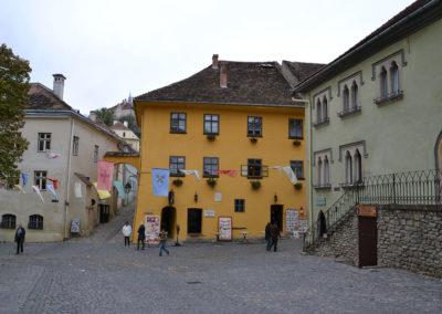 Piata Muzeului, Casa natale del Principe di Valacchia Vlad Tepes Dracul, Sighisoara - Diario di viaggio in Transilvania - Romania