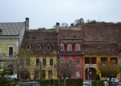 Piata Hermann Oberth, Sighisoara - Diario di viaggio in Transilvania - Romania.
