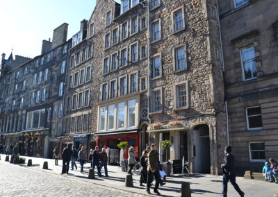 Royal Mile, Edimburgo Diario di viaggio in Scozia.