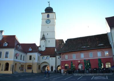 Piata Mare con il il Turnul Stafului - Torre del Consiglio, Sibiu - Diario di viaggio in Transilvania - Romania