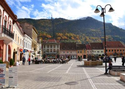 Collina Tampa da Piata Stafului, Brasov - Diario di viaggio in Transilvania - Romania