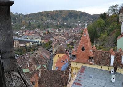 Panorama Sighisoara dalla Torre dell'Orologio - Diario di viaggio in Transilvania - Romania